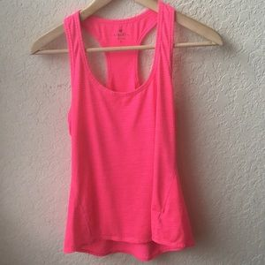 Athleta Neon Pink Racerback Stretch tank